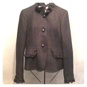 J. Crew Women's Black Wool Blazer Jacket Coat